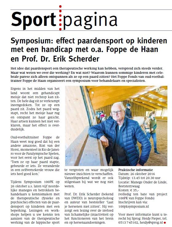 Symposium Foppe Fonds